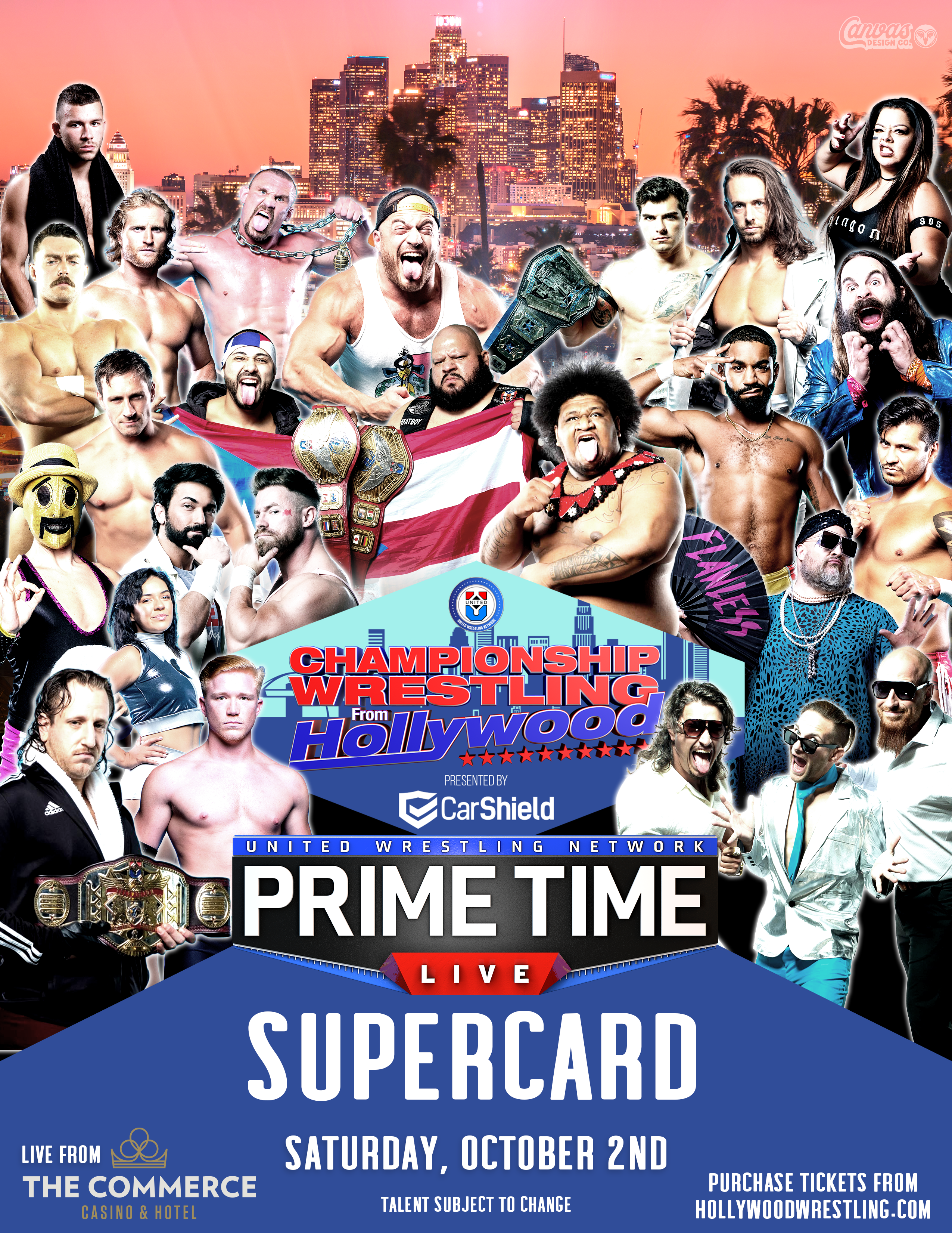 PRIMETIME LIVE AND CHAMPIONSHIP WRESTLING FROM HOLLYWOOD RETURN WITH MULTI-EVENT DEAL AT COMMERCE CASINO